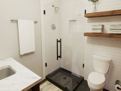 Modern Guest Suite Bathroom
